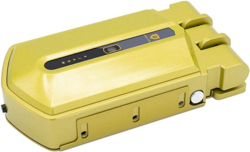 cerradura invisible dorada con alarma